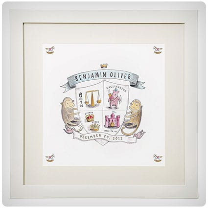 Coat Of Arms Personalized Birth Announcement
