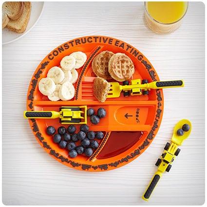Construction Plate & Utensils