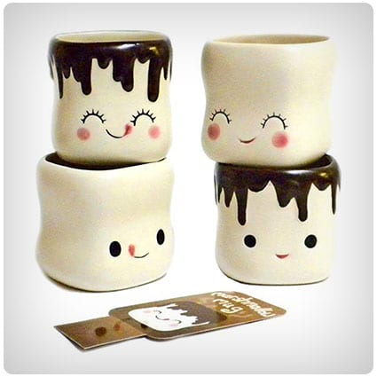 Cute Marshmallow Shaped Hot Chocolate Mugs
