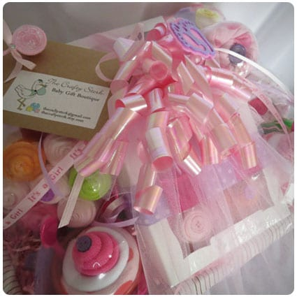 Deluxe Baby Gift Basket for Baby Girl