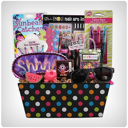 Diva & Proud Gift Basket for Girls