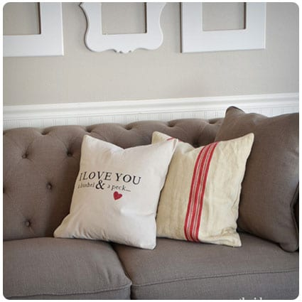 Diy Bushel and a Peck Pillow