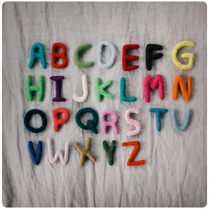Diy Wool Alphabet
