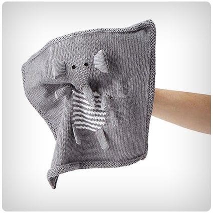 Elephant Finger Puppet Blankie