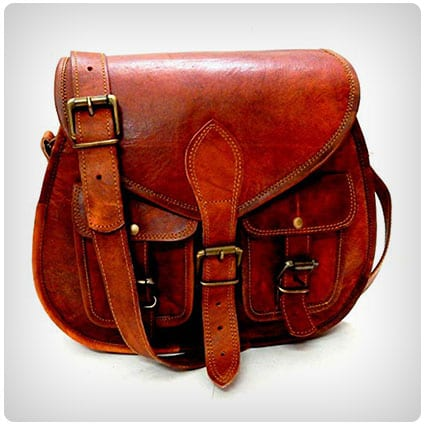 Firu-Handmade Vintage Leather Cross Body Bag