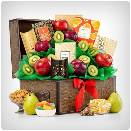 Fresh Fruit And Gourmet Keepsake Chest