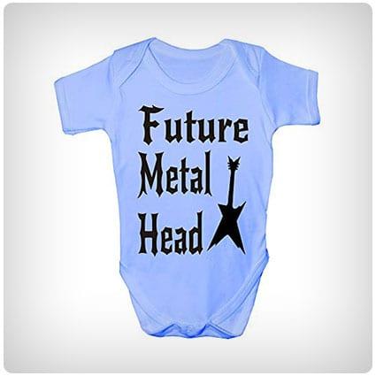 Future Metal Head Baby Romper
