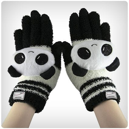 Greenery Cute Wool Touchscreen Gloves Mitten