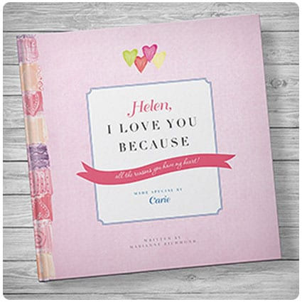 I Love You Because Personalized Love Book