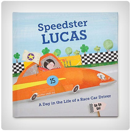 Little Boys Personalized Speedster Book