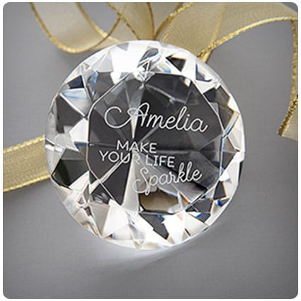 Make Your Life Sparkle Engraved Diamond Keepsake