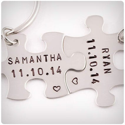 Personalized Anniversary Date Keychains