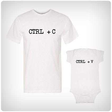 We Match! Ctrl + C & Ctrl +V T-Shirt and Bodysuit Set