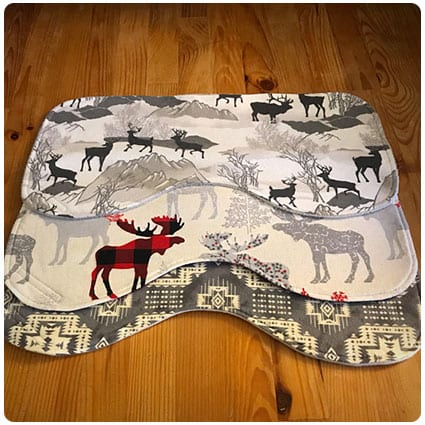 Woodland Animals Burp Cloths