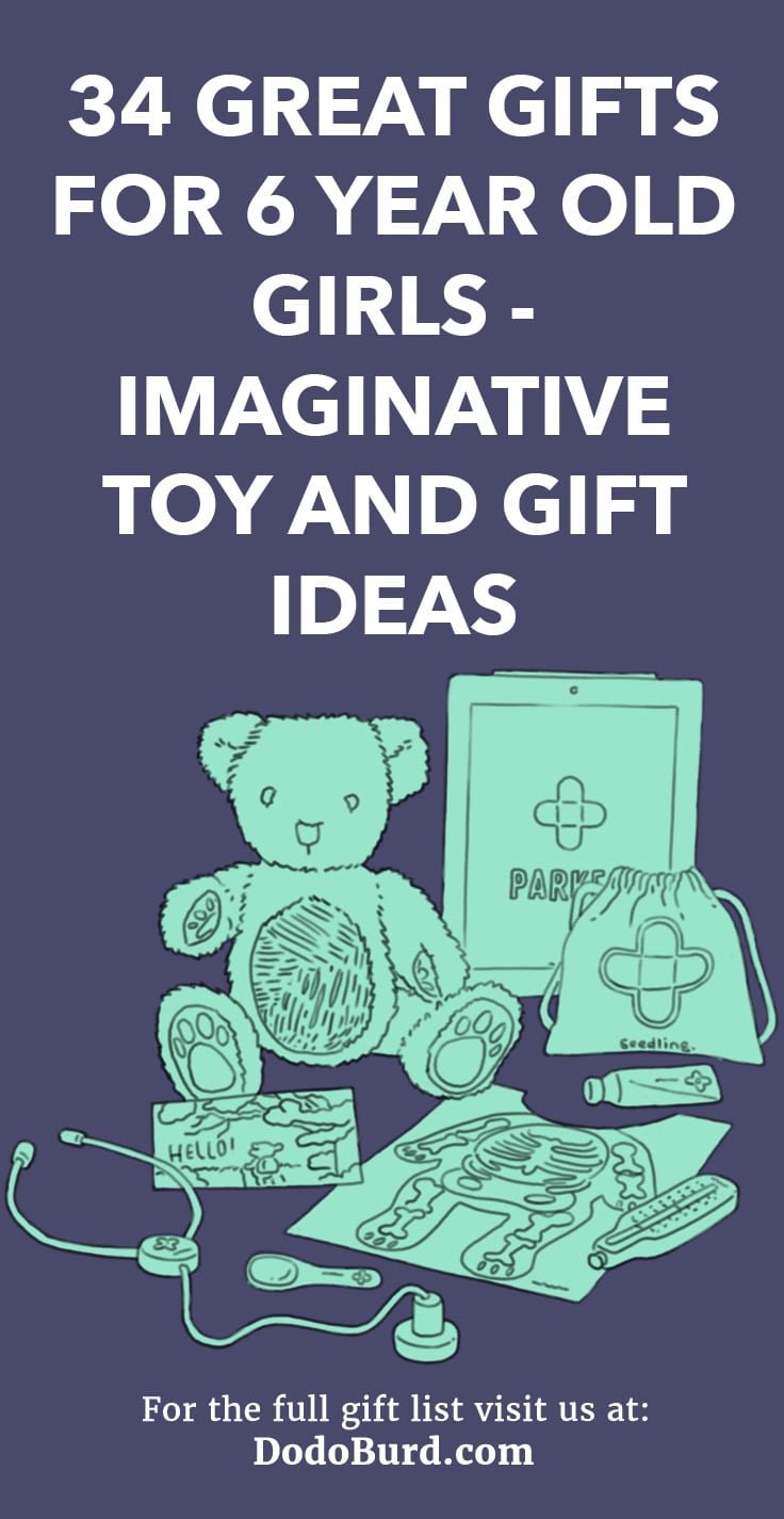 Find awesome, fun, wacky, crafty, silly gifts for 6 year old girls on this list of cool options.