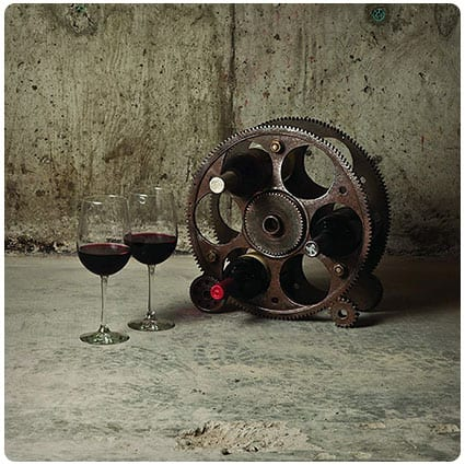 Gears And Wheels Wine Rack by Foster and Rye
