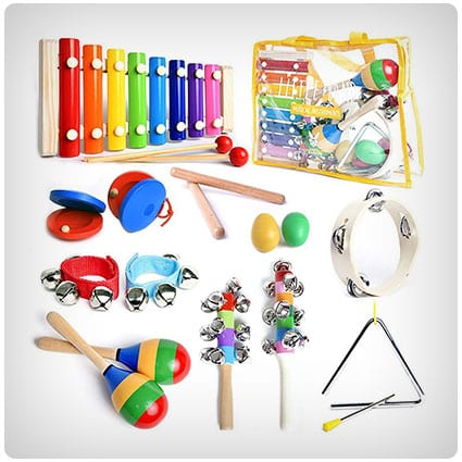 Musical Instruments Set with Xylophone