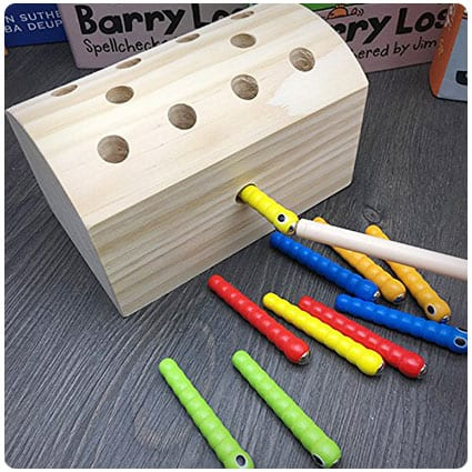 Worm Color Wooden Toy