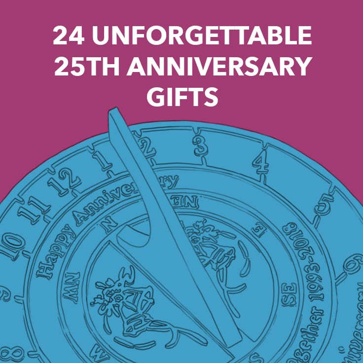 25th Wedding Anniversary Gifts For Wife: 24 Unforgettable 25th Anniversary Gifts