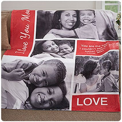 Custom Photo Collage Blanket Family Love