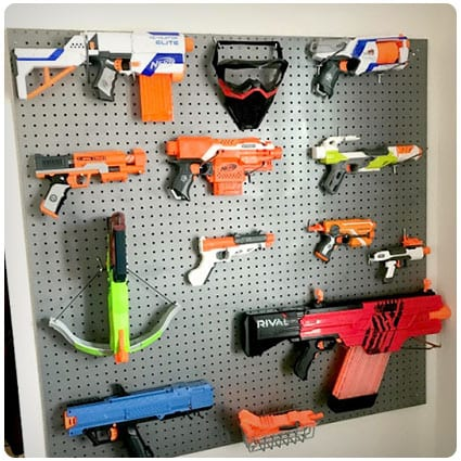Diy Nerf Gun Storage Wall