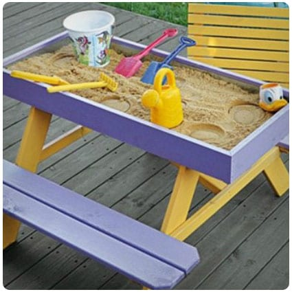 Diy Sandbox Picnic Table