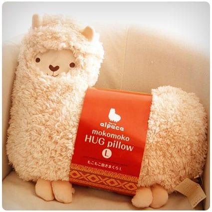 SAVYOU Mokomoko Llama Alpaca Hug Pillow