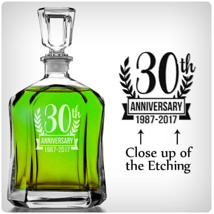 30th Anniversary Personalized Decanter