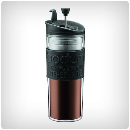 Bodum Insulated Travel French Press Coffee and Tea Mug