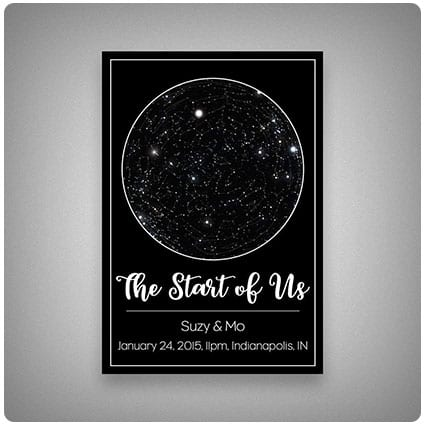 Custom Personalized Star Constellation Map