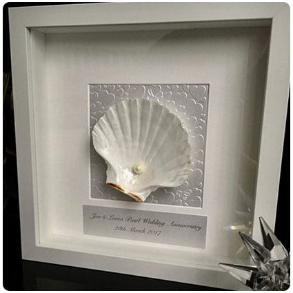 Hand Made Unique Pearl Wedding Shell Art