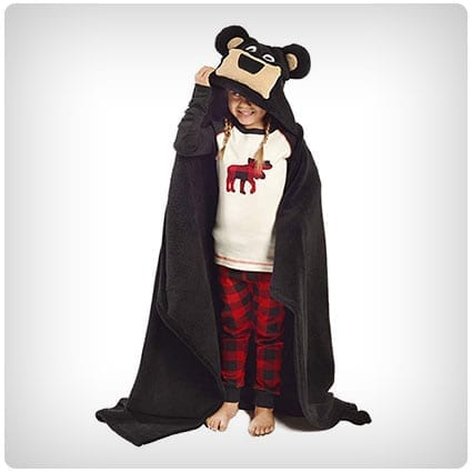 Lazy One Kids Critter Hooded Blanket
