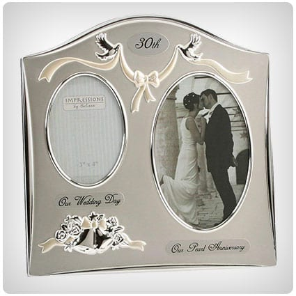 Two Tone Silverplated Wedding Anniversary Photo Frame