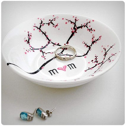 Cherry Blossom Branch Jewelry Bowl