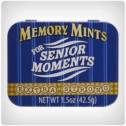 Memory Mints für Senior Moments Fun Gag Tin