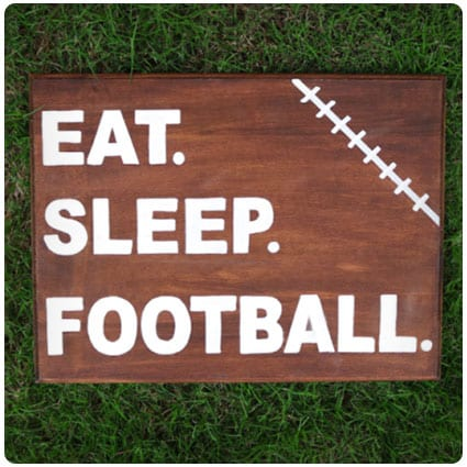 Diy Eat Sleep Football Man Cave Sign