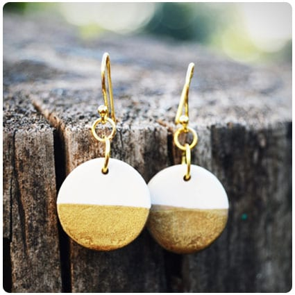 Diy Gold-Dipped Drop Earrings