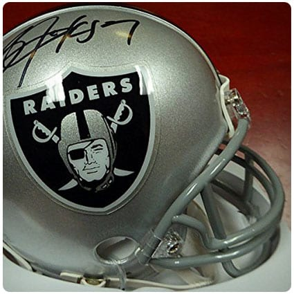 Bo Jackson Signed Oakland Raiders Mini Helmet