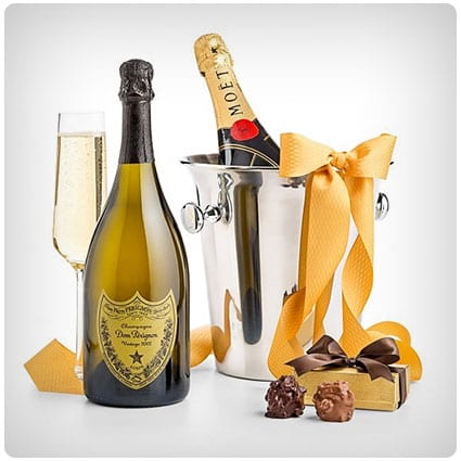 Champagne And Confections Gift Basket