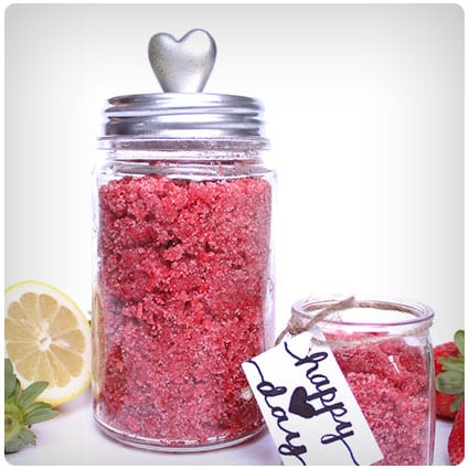 Diy Strawberry Lemon Sugar Scrub