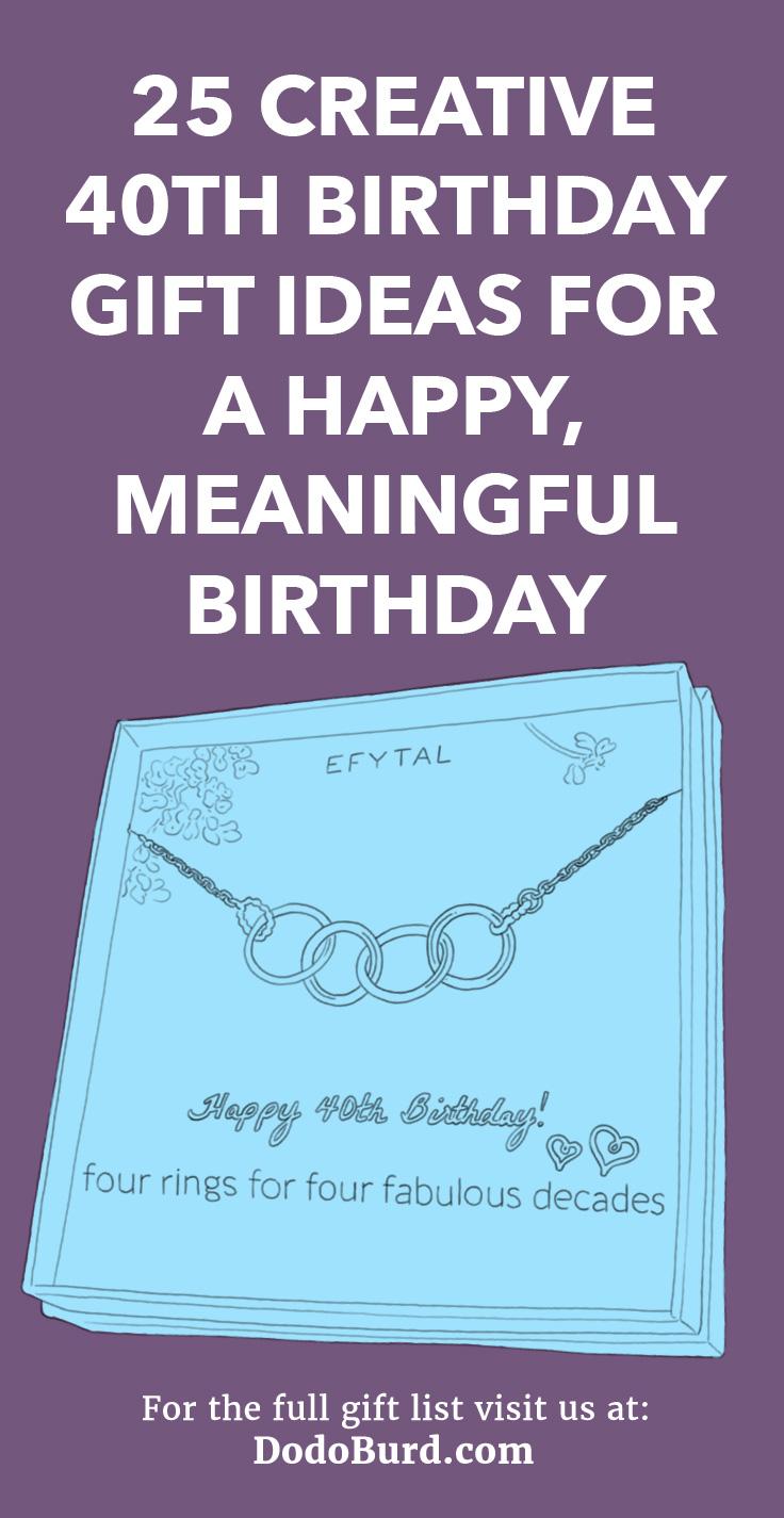 25 Creative 40th Birthday Gift Ideas
