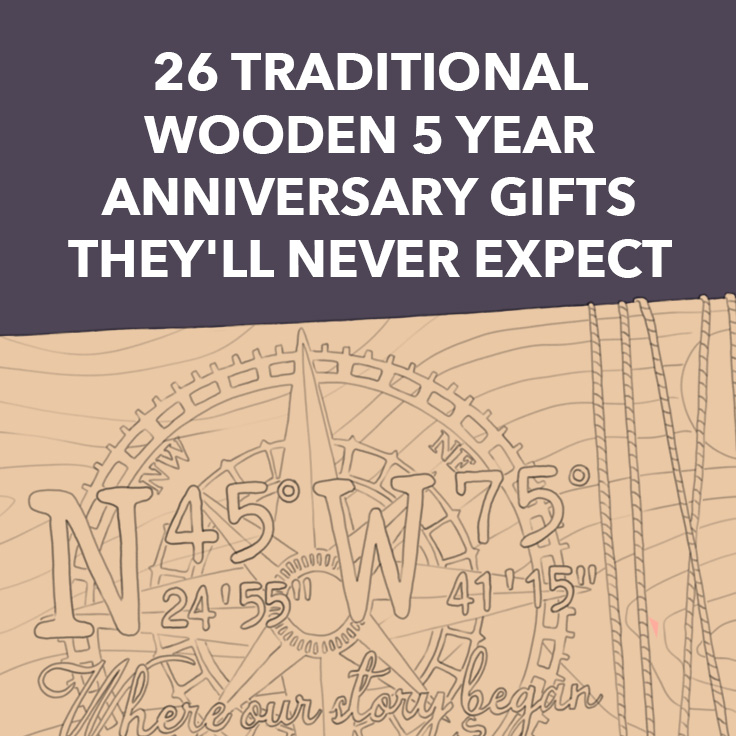 One Year Wedding Anniversary Gifts: 26 Traditional Wooden 5 Year Anniversary Gifts They'll