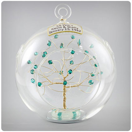 55th Anniversary Personalized Ornament