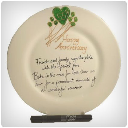 55th Wedding Anniversary Plate