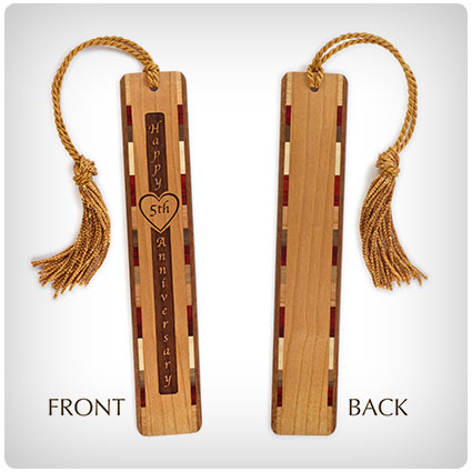 5th Anniversary Engraved Bookmark with Tassel
