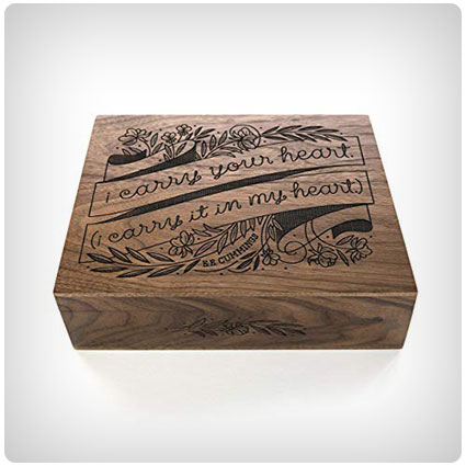I Carry Your Heart Laser Cut Wood Keepsake Box