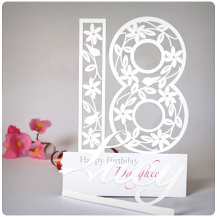 Personalised 3D Paper Cut Birthday Card