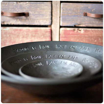 Personalized Iron Bowls