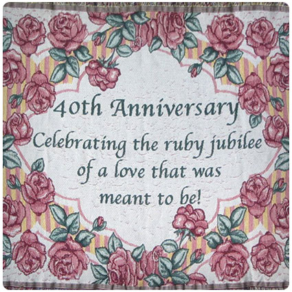 40th Anniversary Cotton Sofa Throw