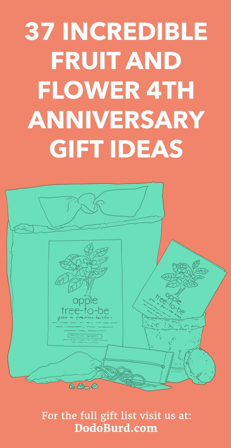 Flower 4th Anniversary Gift Ideas